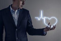 het licht van de hartvorm Royalty-vrije Stock Afbeelding