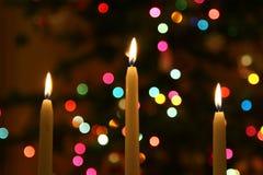 Het licht van de kaars Stock Foto