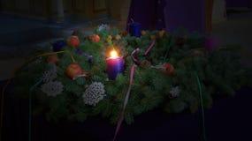 Het Licht van de komstkroon Stock Foto