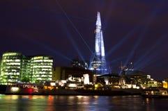 Het Licht van de Laser van de scherf toont in Londen Royalty-vrije Stock Foto's