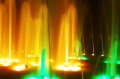 Het licht van de nacht toont Stock Foto