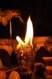 Het licht van de nachtkaars Royalty-vrije Stock Afbeeldingen