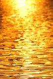 Het licht van de ochtendzon is overdenkt de rivier stock foto's