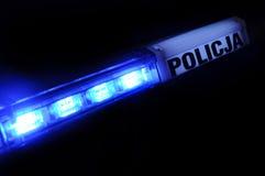 Het licht van de politie in Polen Royalty-vrije Stock Afbeeldingen