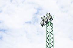 Het licht van de sport met hemel royalty-vrije stock afbeelding