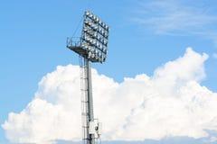 Het licht van de stadionvlek Stock Afbeeldingen