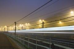 Het licht van de trein Stock Afbeelding