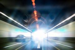 Het licht van de tunneluitgang stock foto