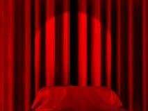 Het licht van de vlek op gordijnen Royalty-vrije Stock Foto
