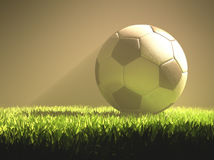 Het Licht van de voetbalbal Royalty-vrije Stock Foto's