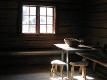 Het Licht van de zon op Houten Lijst Stock Afbeeldingen