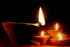 Het Licht van Diwali stock foto's