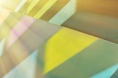 Het licht van het gebrandschilderd glasvenster Stock Foto
