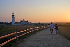 Het Licht van het raspunt, Cape Cod, Massachusetts, de V.S. royalty-vrije stock foto's