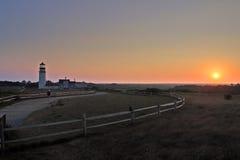 Het Licht van het raspunt, Cape Cod, Massachusetts, de V.S. stock foto's