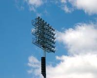 Het licht van het stadion stock foto
