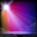 Het licht van het stadium Stock Afbeeldingen