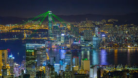 Het Licht van Hongkong toont Royalty-vrije Stock Foto's