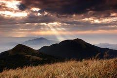 Het licht van Jesus in Nationaal Park Yangmingshan Stock Foto