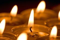 Het licht van kaarsen Stock Fotografie
