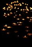 Het licht van kaarsen Stock Afbeelding