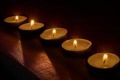 In het licht van kaarsen Royalty-vrije Stock Afbeelding