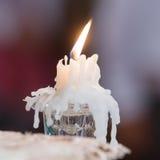 Het licht van kaarsen huwelijkskaarsen het branden Royalty-vrije Stock Foto's