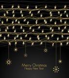 Het licht van Kerstmis Stock Afbeelding