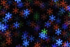 Het licht van Kerstmis bokeh Stock Afbeelding