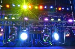 Het licht van het stadium stock foto