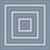 Het lichtblauwe naadloze patroon van de hemel abstracte caleidoscoop Stock Foto