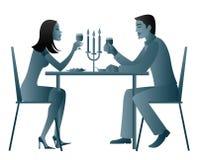 Het lichte diner van de kaars vector illustratie