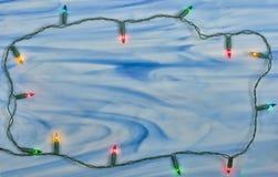 Het lichte frame van Kerstmis Royalty-vrije Stock Foto's