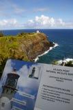 Het Lichte huis van Kilauea onder Reparatie Stock Foto's
