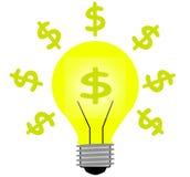 Het lichte idee van het geld Royalty-vrije Stock Afbeeldingen
