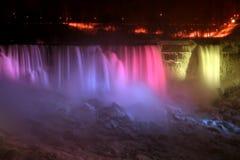 Het Lichte Niagara Falls van de regenboog Royalty-vrije Stock Afbeelding