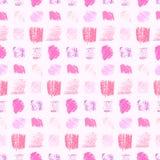 Het lichte pastelkleurroze kleurt grunge vierkantenpatroon vector illustratie