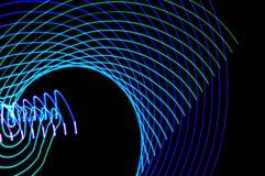 Het lichte schilderen Abstracte, futuristische, kleurrijke lange blootstelling, bl Stock Afbeelding