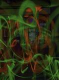 Het lichte Schilderen bij Sebastiani-Theater stock afbeeldingen