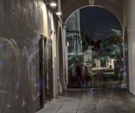 Het lichte Schilderen bij Sebastiani-Theater royalty-vrije stock afbeelding