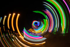 Het lichte schilderen door de camerabeweging Royalty-vrije Stock Afbeelding