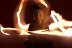 Het lichte schilderen van Boedha Stock Foto's