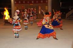 Het lied en de dans van de Yaonationaliteit stock foto