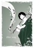 Het lied van de fluit Stock Afbeeldingen