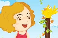 Het lied van de vogel Stock Afbeeldingen