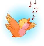 Het lied van de vogel royalty-vrije stock afbeelding