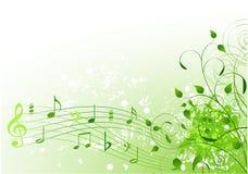 Het liedachtergrond van de lente stock illustratie