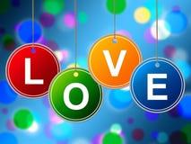 Het liefdehart vertegenwoordigt Valentine Day And Affection Royalty-vrije Stock Fotografie