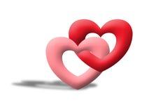 Het liefdehart zoals valentijnskaart illustreert beeld Royalty-vrije Stock Foto's