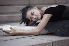 Het liggen ballerina Royalty-vrije Stock Foto's
